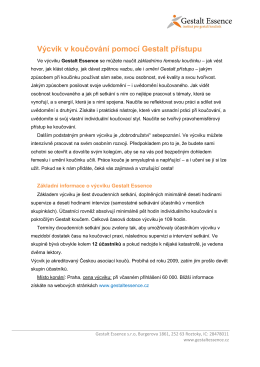 popis výcviku - Česká asociace koučů