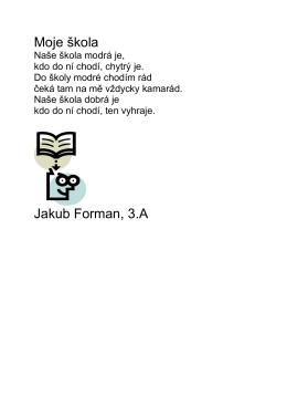 Moje škola Jakub Forman, 3.A