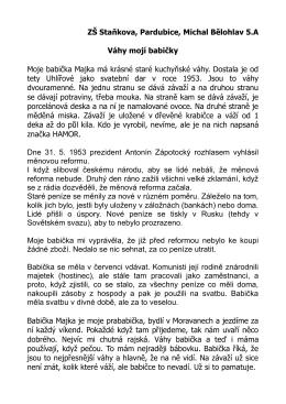 Michal Bělohlav - Váhy mojí babičky.