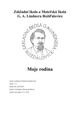 Michaela Želichovská - Základní škola a Mateřská škola Rožďalovice