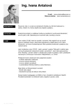 Moje CV - Sweb.cz