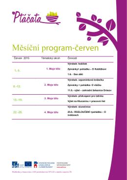 Měsíční program