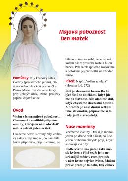 Májová pobožnost Den matek