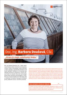 Doc. Ing. Barbora Doušová, CSc.