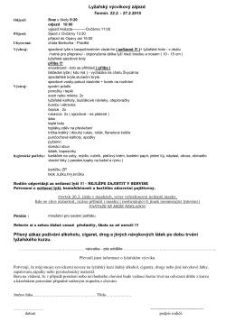 Pokyny k lyžařskému kurzu pro 7. ročník