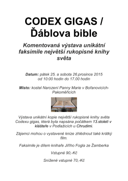 CODEX GIGAS / Ďáblova bible
