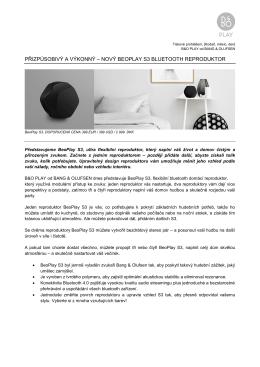 BeoPlay S3 - KD Elektronika s.r.o.