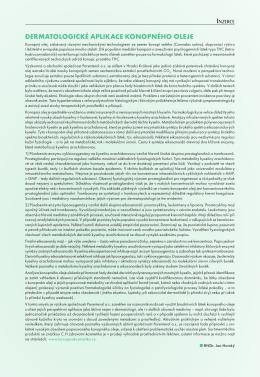 článek v časopisu Referátový výběr z dermatovenerologie