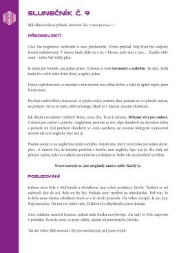 SLUNEČNÍK Č. 9