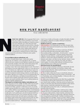 Rok plný nadělování (rozhovor s Jiřím Langmajerem, Esquire 10