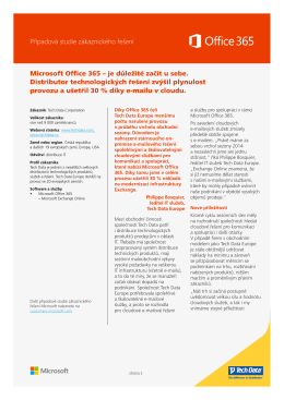 Případová studie zákaznického řešení Microsoft Office 365