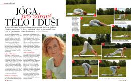 jóga v časopise zdraví