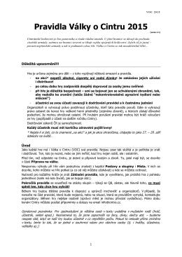 Kompletní pravidla VOC 2015
