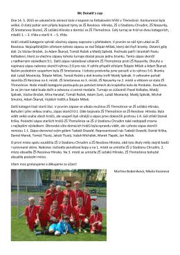 Mc Donald´s cup Dne 14. 5. 2015 se uskutečnilo