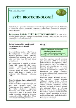 Svět biotechnologií 2015/04