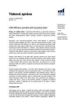 Tisková zpráva - OVB Allfinanz, as ČR