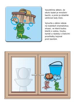Vysvětlíme dětem, že okolo toalet je množství bacilů, a