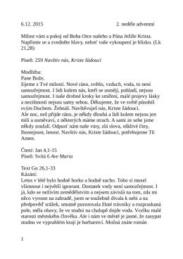 6.12. kázání L. Ridzoňové Izák a studny Gn 26