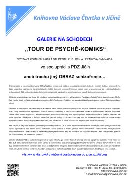 """""""TOUR DE PSYCHÉ-KOMIKS"""" - Knihovna Václava Čtvrtka Jičín"""