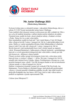 7th. Junior Challenge 2015