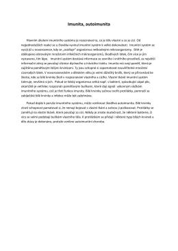 Imunita, autoimunita - MyastheniaGravis.cz