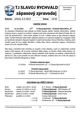 Zápasový zpravodaj č. 4-2014/15 6.5.2015