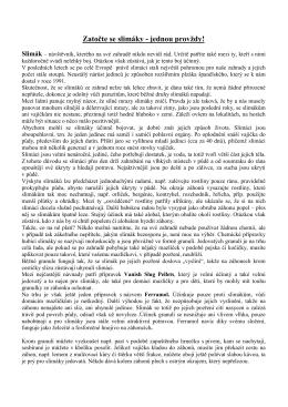 Zahradnik Šikula radi - Boj se slimáky, březen 2015