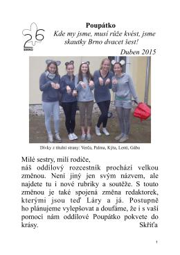 Dubnové Poupátko - 26. dívčí skautský oddíl Brno