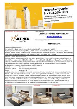 JELÍNEK - výroba nábytku s.r.o. www.jelinek.eu