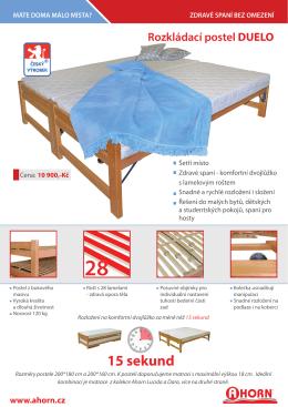 Rozkládací postel DUELO