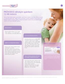 PRŮVODCE dětským spánkem 12-48 měsíců