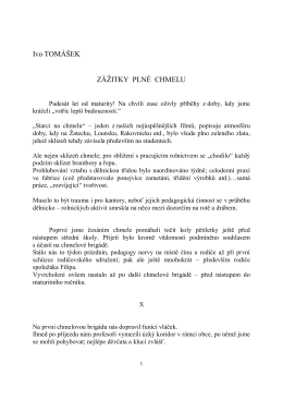 Ivo TOMÁŠEK ZÁŽITKY PLNÉ CHMELU