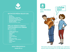 bolesti zad - Rok prevence