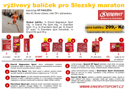 výživový balíček pro Slezský maraton