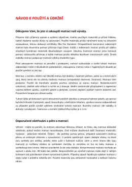 Montážní návod - MEDIXO VELVET 90x200