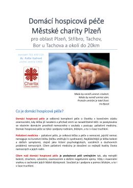 Domácí hospicová péče Městské charity Plzeň