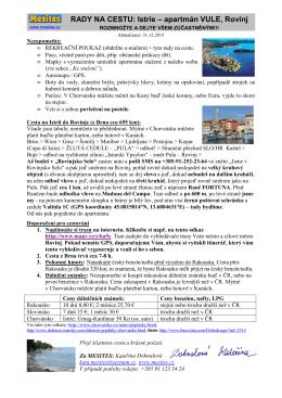 RADY NA CESTU: Istrie – apartmán VULE, Rovinj