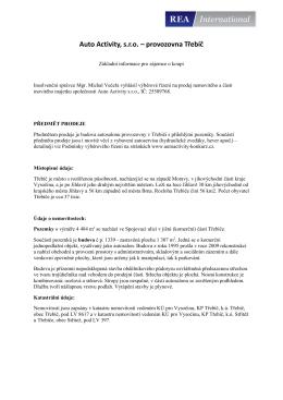 Auto Activity, s.r.o. – provozovna Třebíč