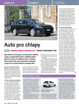 Auto pro chlapy