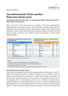 Top zaměstnavatelé v České republice: Škoda Auto