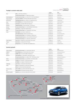 Prodej í a servis í ísta Audi Servis í part eři