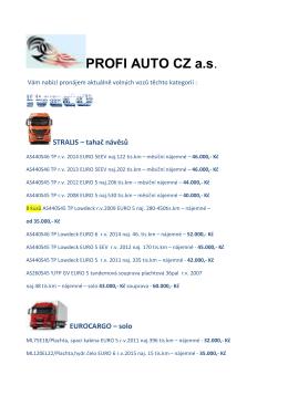 ZDE - Iveco PROFI AUTO CZ as