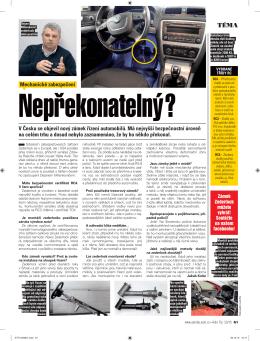 V Česku se objevil nový zámek řízení automobilů. Má nejvyšší