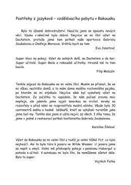 Postřehy z jazykově – vzdělávacího pobytu v Rakousku