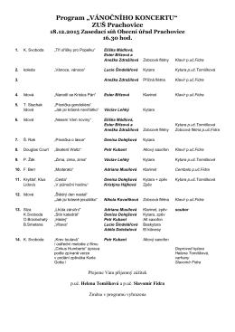 Program 18.12.2015 Prachovice