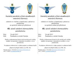 Hanácký paraklub a Klub výsadkových veteránů Olomouc 65. výročí