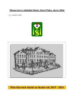 Plán hlavních úkolů - Masarykova základní škola