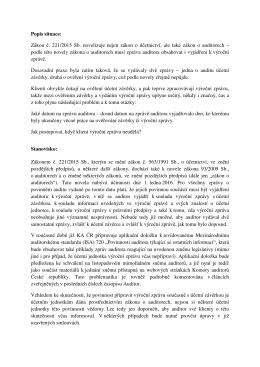 pouze jedna zpráva, datum zprávy - Komora auditorů České republiky