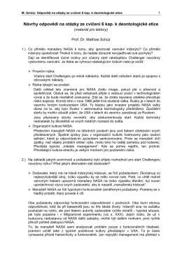 Návrhy odpovědí na otázky ze cvičení 6 kap. k deontologické etice