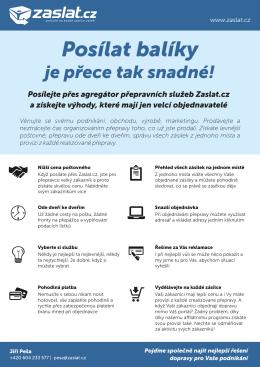 Nabídka pro prodejce a e-shopy